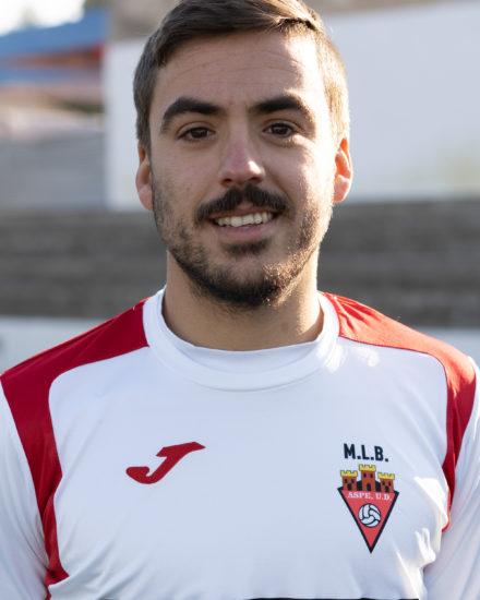 Jose Daniel Martínez Muñoz jugador del Aspe Unión Deportiva Senior