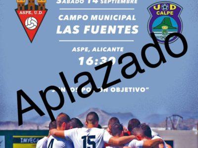 Partido aplazado Aspe Unión Deportiva Calpe