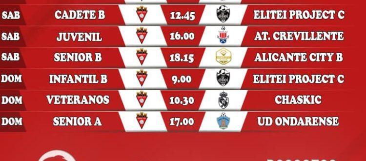 Horarios Septiembre Aspe Unión Deportiva