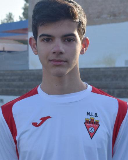 Alex Amorós jugador del Aspe UD Cadete A