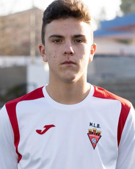Carlos Urios Bernabeu, jugador del Cadete A del Aspe UD