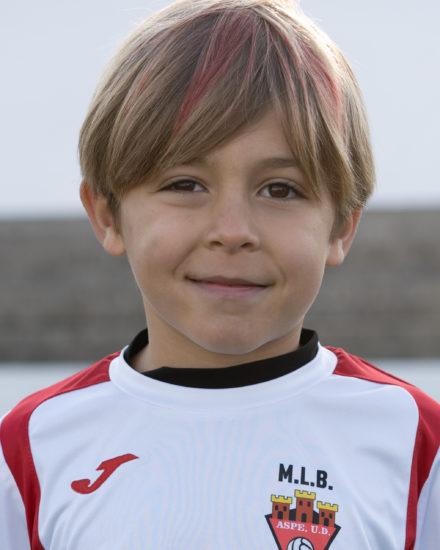 Gorka Escribano jugador del Aspe Unión Deportiva Prebenjamín