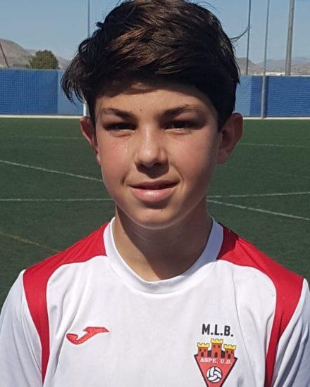 Angel Jesús Almario jugador del Aspe UD Infantil B
