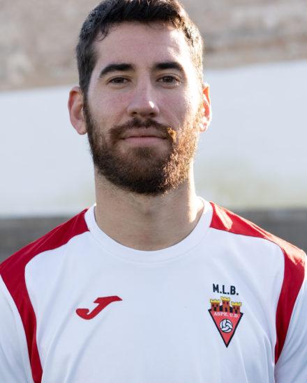 Francisco Javier Cerdán , Chavo, jugador del Aspe Unión Deportiva Senior