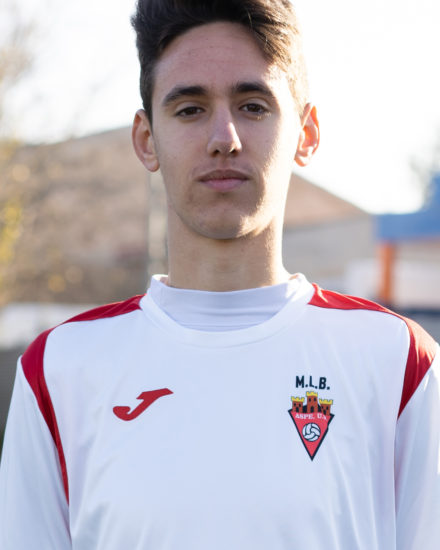 Juan Carlos Caparrós jugador del Aspe UD Cadete A