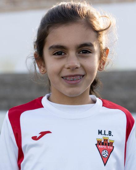 Laura Gomez Llopis jugadora del Aspe Unión Deportiva Prebenjamín