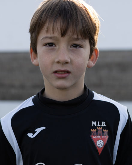 Luis Alenda Antón jugador del Aspe Unión Deportiva Prebenjamín
