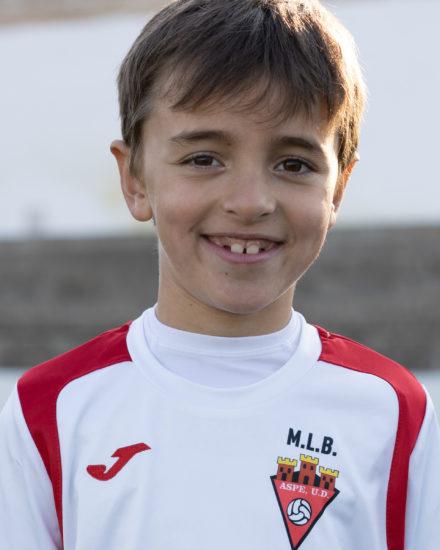 Luis Torres Verdú jugador del Aspe Unión Deportiva Prebenjamín