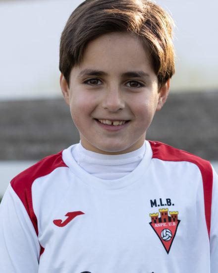 Rafa Cremades jugador del Aspe Unión Deportiva Prebenjamín