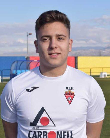 Pierre jugador del Aspe Unión Deportiva Senior