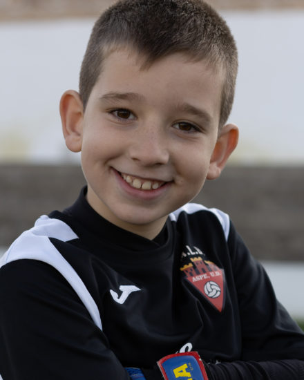 Adrián Cascales jugador del Aspe UD Benjamín A