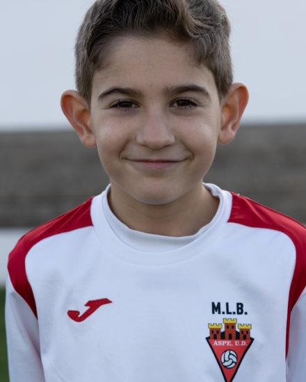 Alejandro Cerdán jugador del Aspe UD Benjamín B