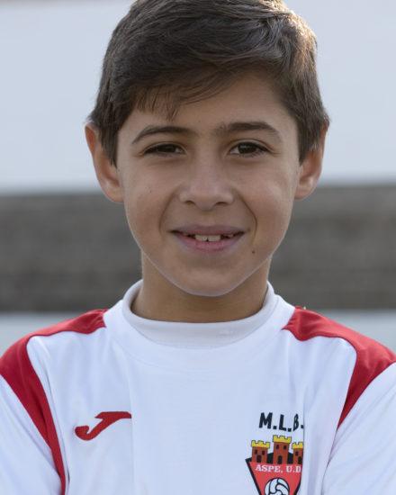 Álex Caballero jugador del Aspe UD Benjamín B