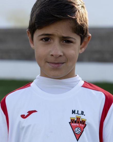 Alvaro Caballero jugador del Aspe UD Benjamín B