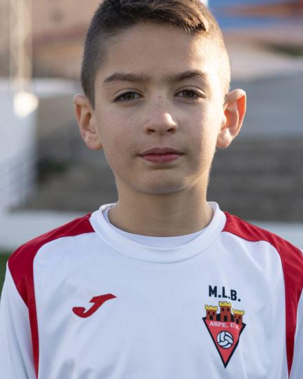 Bruno Gutiérrez es un jugador del ASPE UD BENJAMIN A