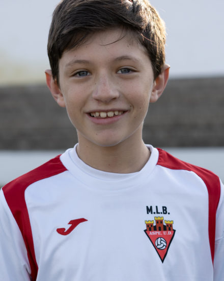 Carlos González jugador del Aspe UD Benjamín B