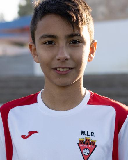 Daniel Gil jugador del Aspe UD Alevín D