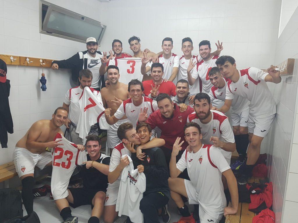 Celebración de la victoria del ASpe UD B ante el Bonavista