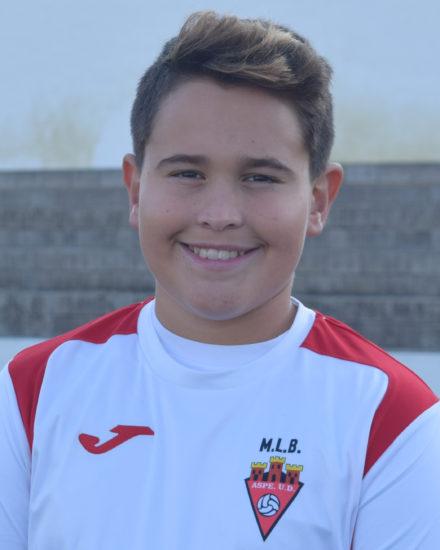 Fonsi González jugador del Aspe UD Alevín C