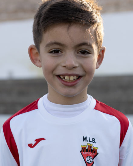 Izan Sánchez jugador del Aspe UD Benjamín B