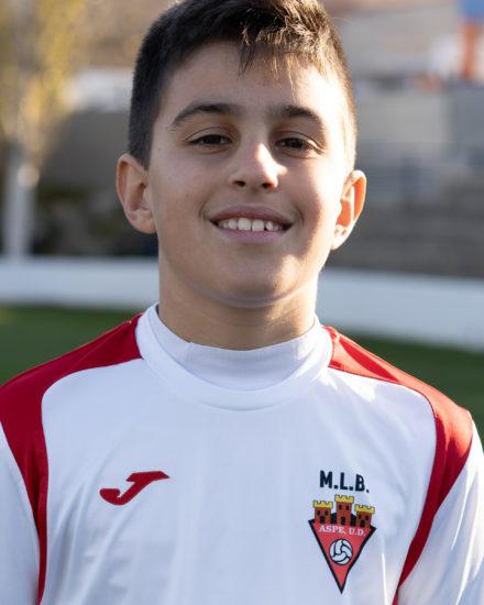 Javier García jugador del Aspe UD Alevín D