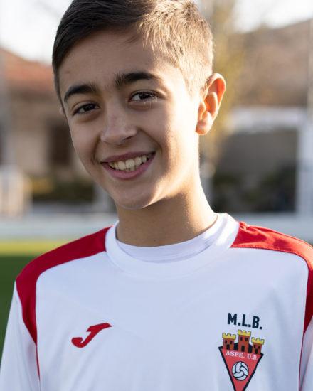 Jose Javier ABellán jugador del Aspe UD Alevín C