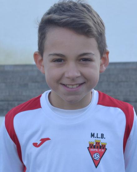 Lucas Puviani jugador del Aspe UD Alevín C