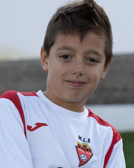 Manuel Pastor jugador del Aspe UD Benjamín A