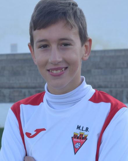 Marcos Caparrós jugador del Aspe UD Alevín C