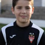 Óscar Martínez jugador del Aspe UD Benjamín A