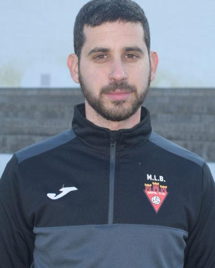 Óscar Galiano Martínez entrenador del Alevín D del Aspe Unión Deportiva