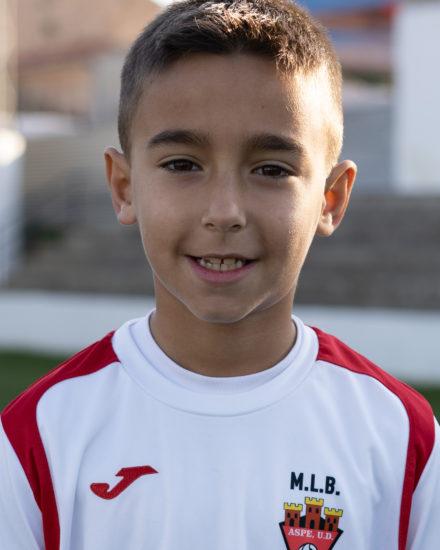 Pablo Molina jugador del Aspe UD Benjamín A