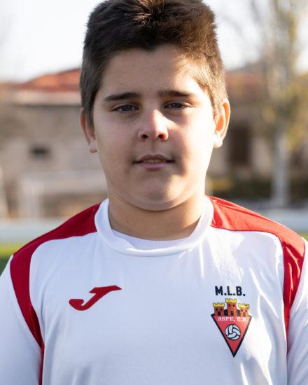 Samuel Pérez jugador del Aspe UD Alevín C