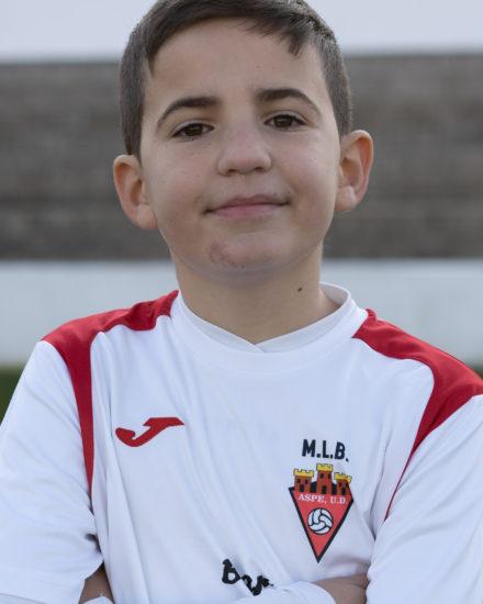 Unai Nieto jugador del Aspe UD Benjamín A