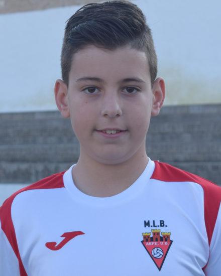 Unay Cuenca Ortuño jugador del Aspe UD Alevín C