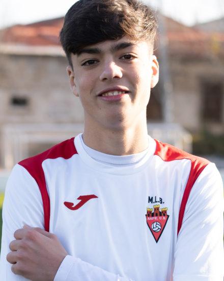 Víctor Castellano jugador del ASpe Unión Deportiva Cadete B