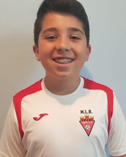 Álex Martínez Domene jugador del Aspe UD Infantil A