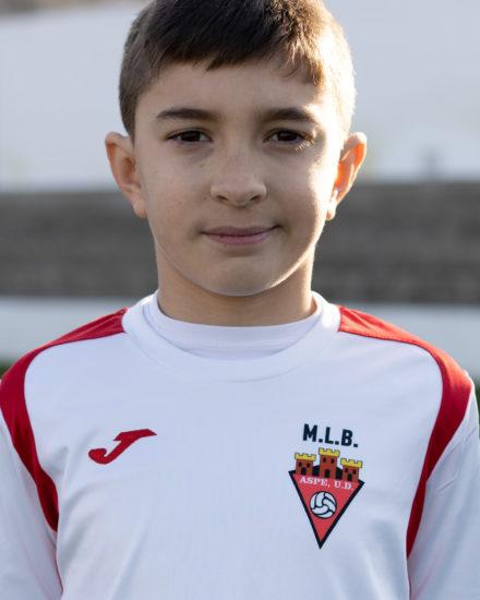 Yeremi Torres jugador del Aspe UD Alevín D