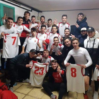 Celebración victoria Aspe UD B frente al Novelda CF B
