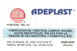 Adeplast Plásticos ADE Patrocinador del Aspe Unión Deportiva