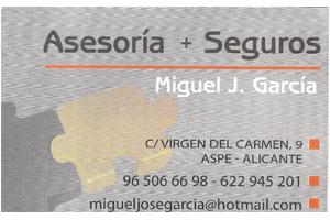 Asesoría Miguel J. García Patrocinador del Aspe Unión Deportiva