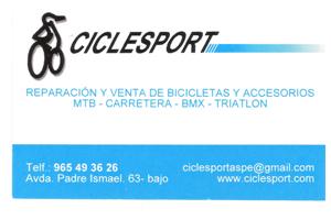 Ciclesport Patrocinador del Aspe Unión Deportiva