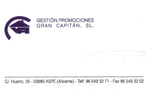 Promociones Gran Capitán Patrocinador del Aspe Unión Deportiva