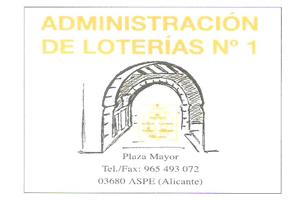 Administración de Loterías número 1 de Aspe Patrocinador del Aspe Unión Deportiva