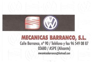 Mecanicas Barranco Aspe Patrocinador del Aspe Unión Deportiva