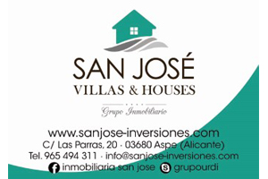 San José Villas & Houses Patrocinador del Aspe Unión Deportiva