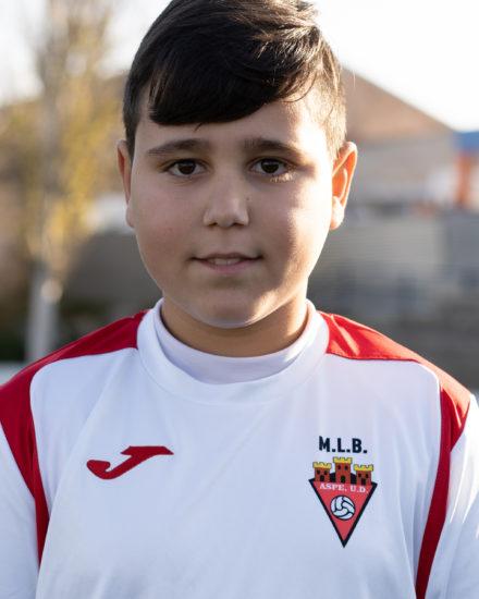 Nestor Bernal es jugador del Aspe UD Alevín D