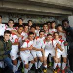Celebración de la victoria del Cadete A del Aspe Unión Deportiva