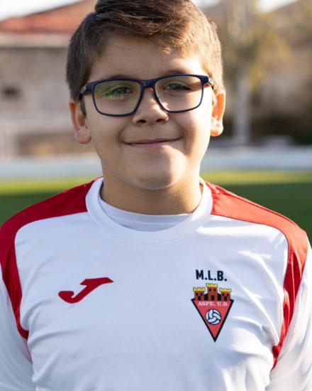 Alejandro Maestro jugador del Aspe UD Alevín B