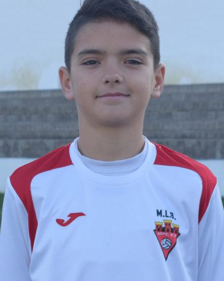 Asier Gómez jugador del Aspe UD Alevín A